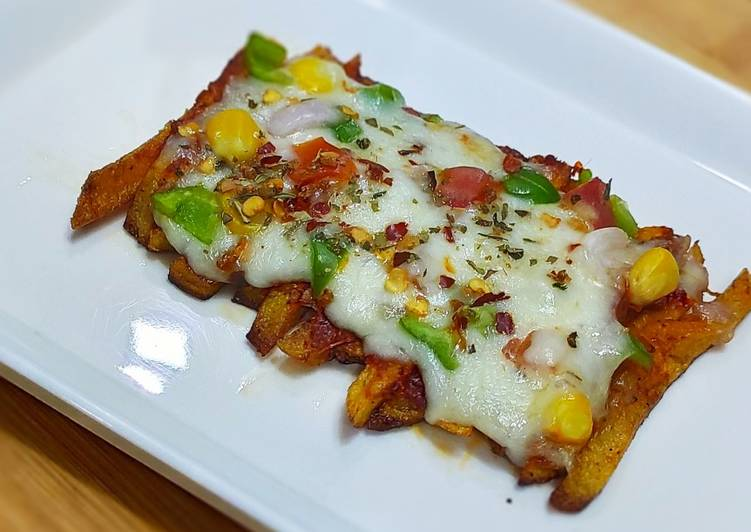 Steps to Make Most Popular French fries pizza