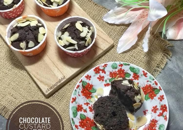 Resep (1.8) Chocolate Custard Muffin Dan Lepard Paling Joss
