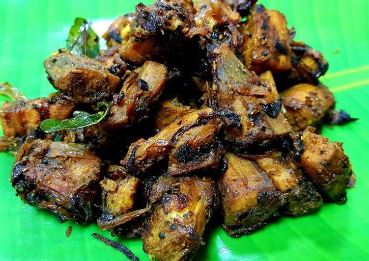 Recipe of Top-Rated Raw Banana Stir Fry (Vazhakkai Varuval)
