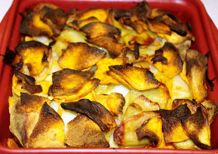 Comment Faire Des Gratin de pommes de terre et patate douce