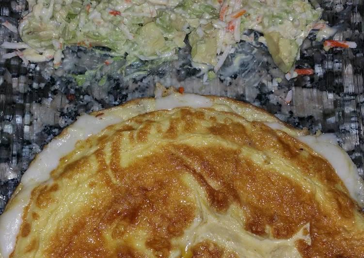 Omelette soufflée au chèvre