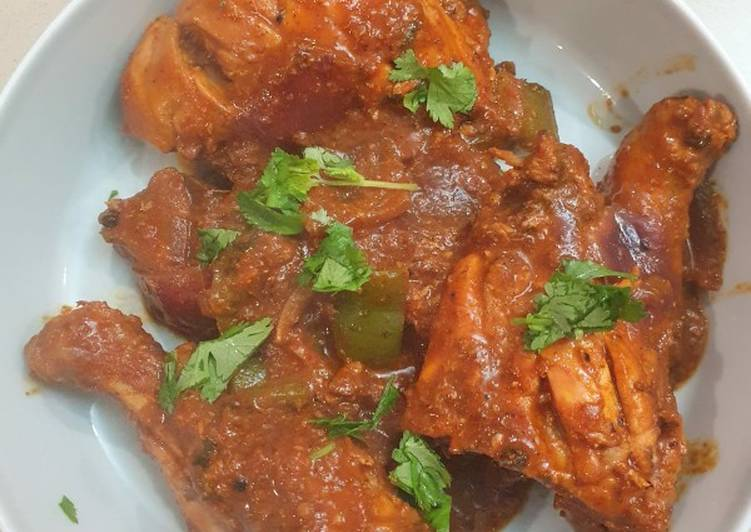 Kadhai Chicken Indian Restaurant Style