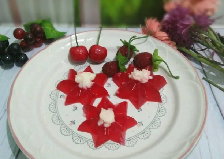 Puding merah putih (puding vla susu)#dapurmerahputih