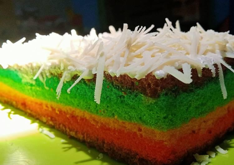 Resep Rainbow cake kukus oleh Indra Dewaty - Cookpad