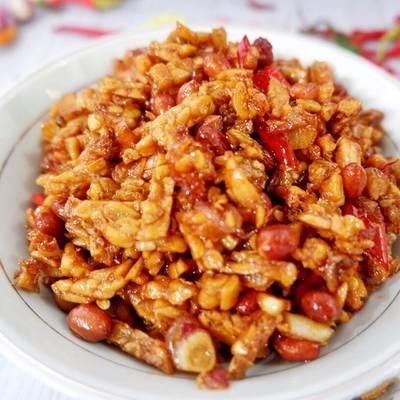 Resep Kering Tempe Kacang Orek Tempe Kacang Oleh Dita Mulya13 Cookpad