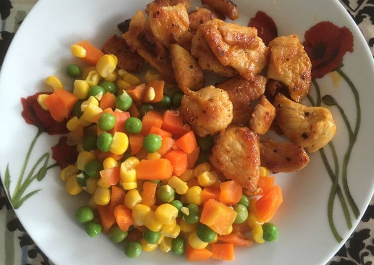 Chicken breasts with vegetables (kuracie prsia so zeleninou)