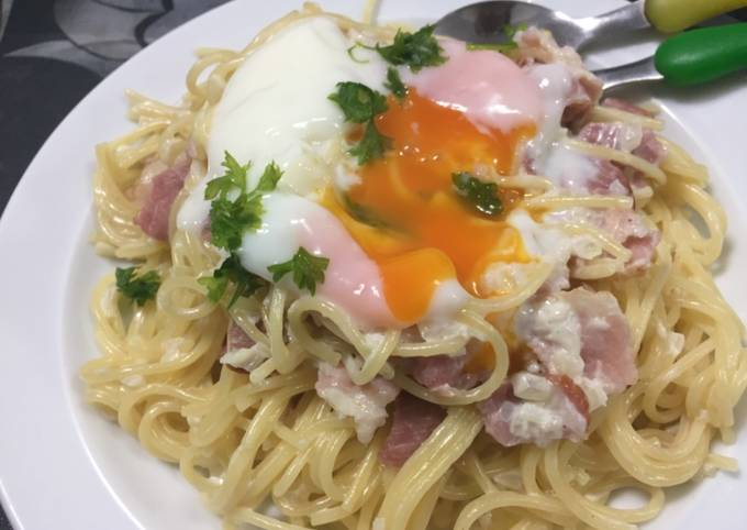 Step-by-Step Guide to Make Favorite Carbonara with the ingredients at home!
