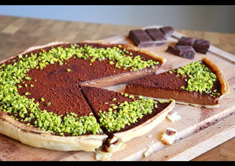 Simple Way to Prepare Award-winning Rich, dark chocolate tart with pistachio crumb