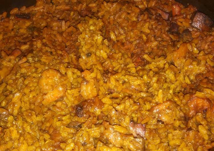 Paella (seafood rice) - Laurie G Edwards