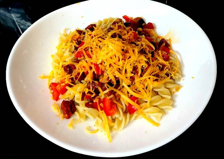 Recipe: Perfect My Chorizo + Veg Mix on Pasta. 🤗🤗