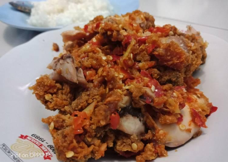 Ayam geprek ala umme fatih
