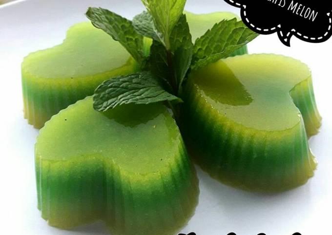 Puding lapis melon