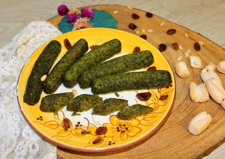 Salchichas de espinacas y soja texturizada en Mambo y microondas