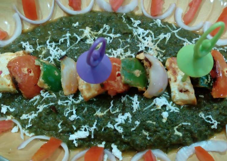 10 Minute How to Make Ultimate Paneer tikka in spinach