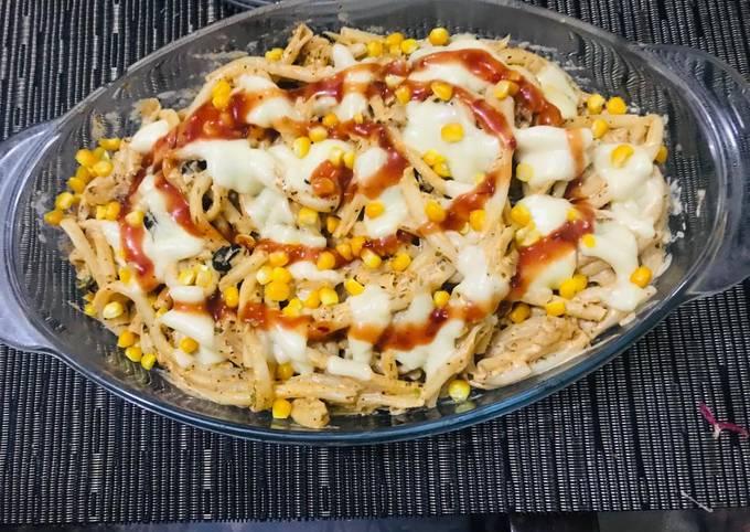 Recipe: Yummy Creamy corn pasta