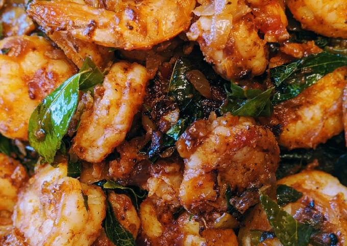 How To Cook Shrimp saute with curry leaves Tasty