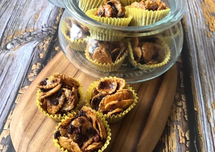 Resepi:  Honey Cornflakes  Enak