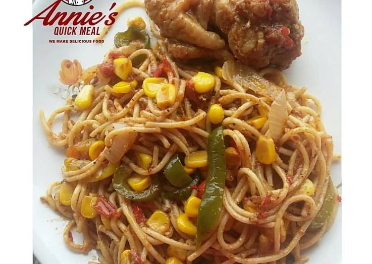5 Minute Steps to Make Diet Perfect Chicken and Veggies infused Spaghetti