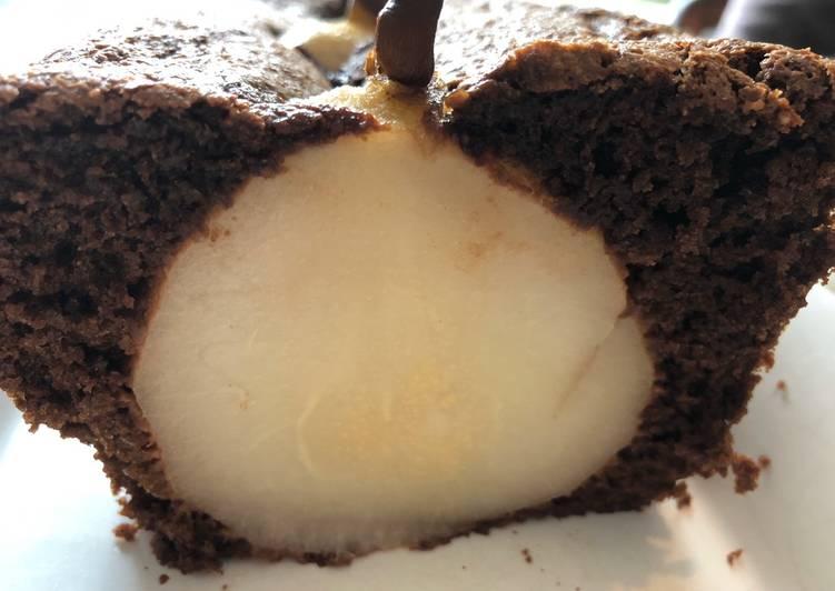 recette Gâteau au chocolat et poires entières délicieux