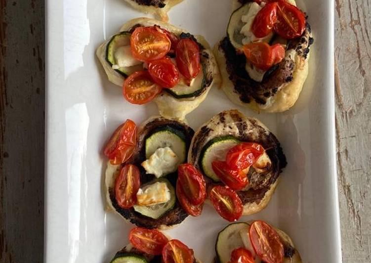 Tartelettes à la tomate / courgettes fêta