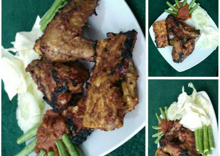 Ayam bakar dan tempe bakar maknyuss