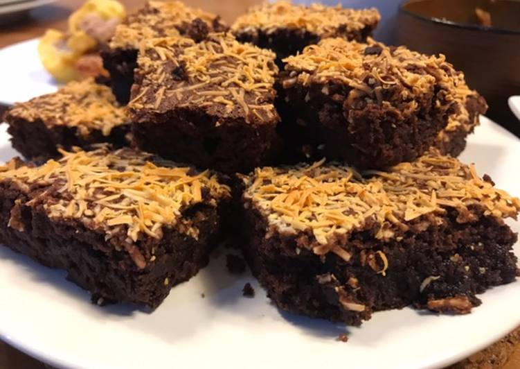 Brownies lembut & lumer