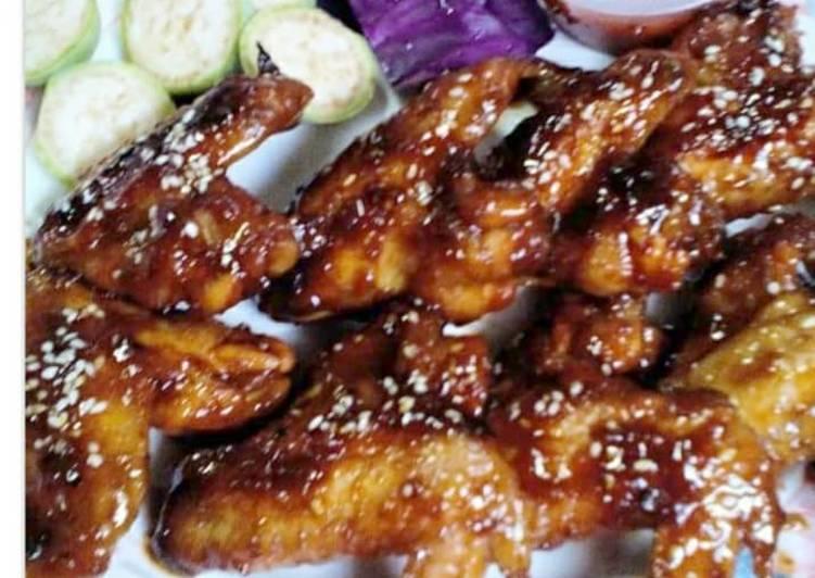 8. Kepak Ayam Masak Coca Cola - resepipouler.com