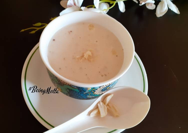 Recipe of Perfect Almond Veg Soup