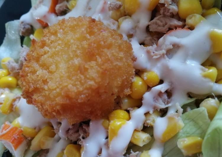 Recette: Parfait Salade de chèvre chaud