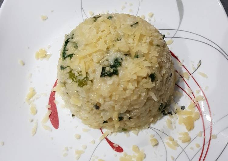 Recipe of Most Popular ASPARAGUS AND SPINACH rissoto