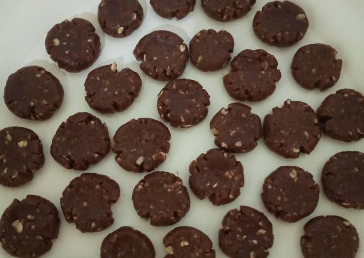 Oat chocolate cookies teflon no mixer&egg - cemilan anak 2,5thn