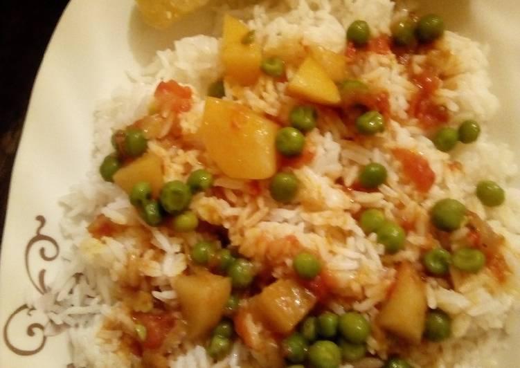Recipe of Award-winning Green peas & rice