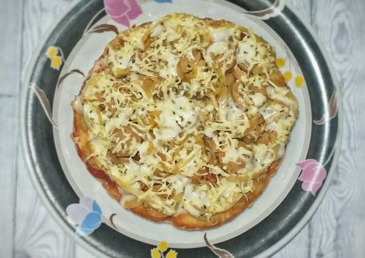 Simple Pizza (No Telur, No Ulen, No Mixer, No Oven)