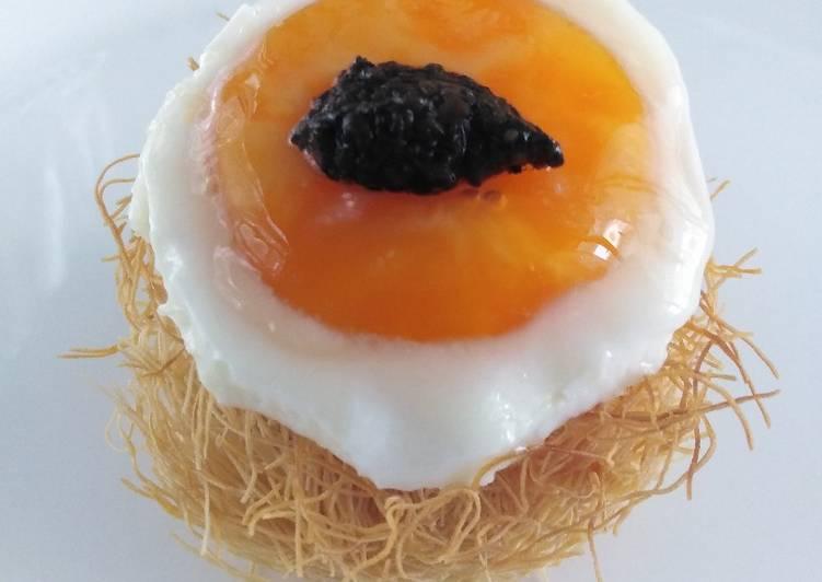 Ricetta Nido di kataifi con uovo e tartufo