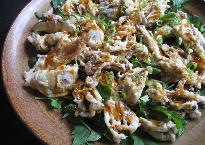 Asian Mushrooms Tempura