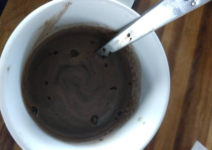 Special dark hot chocolate