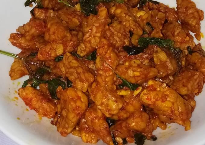 sambal tempe goreng kemangi - resepenakbgt.com
