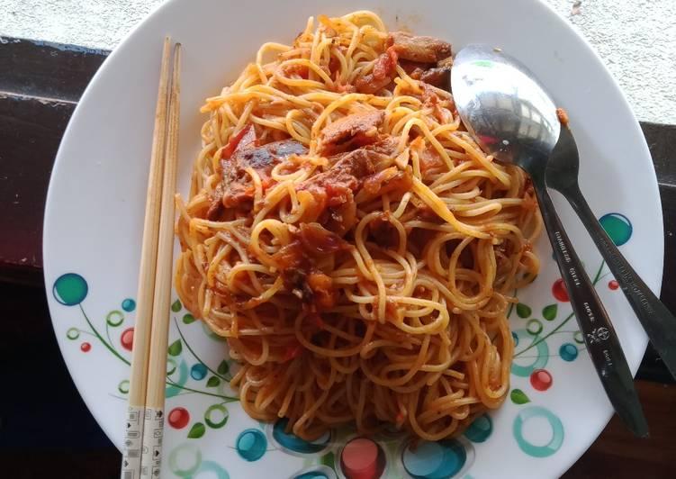 6. Spaghetti la fonte with sardines