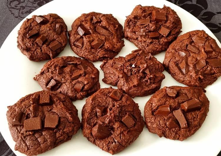 Comment Préparer Les Cookies façon brownie vegan de perleensucre