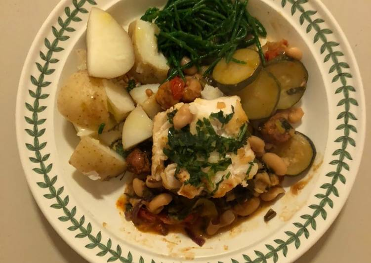 Cod, Chorizo & Samphire Supper