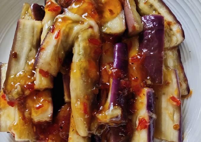 Easiest Way to Make Yummy Sweet and Chilli Sauce Eggplant