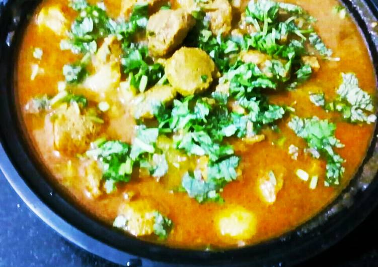 Aloo soyabean curry Finding Healthy Fast Food