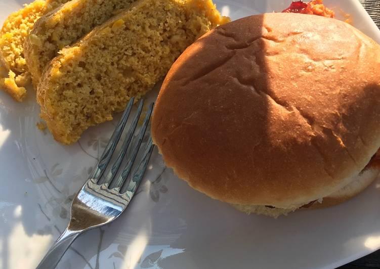 Steamed African corn loaf