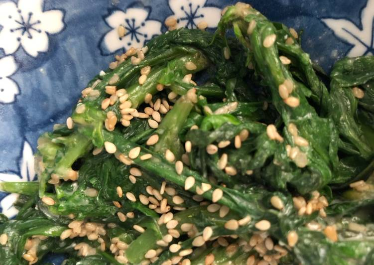 Sesame Miso Chrysanthemum Leaves (or any other Greens) - vegan
