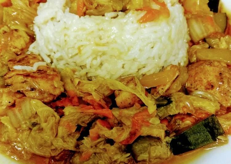 Poulet-Gemüsepfanne mit Asiatouch