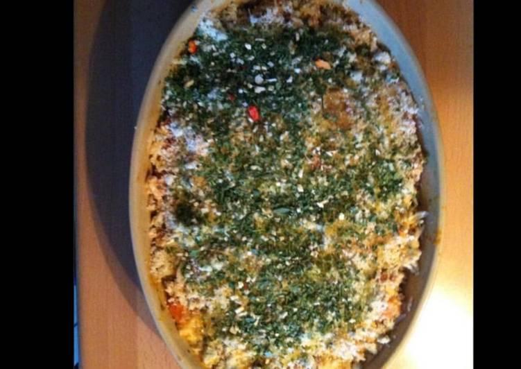 Comment pour faire Super rapide Fait maison Risotto en gratin aux tomates et herbes