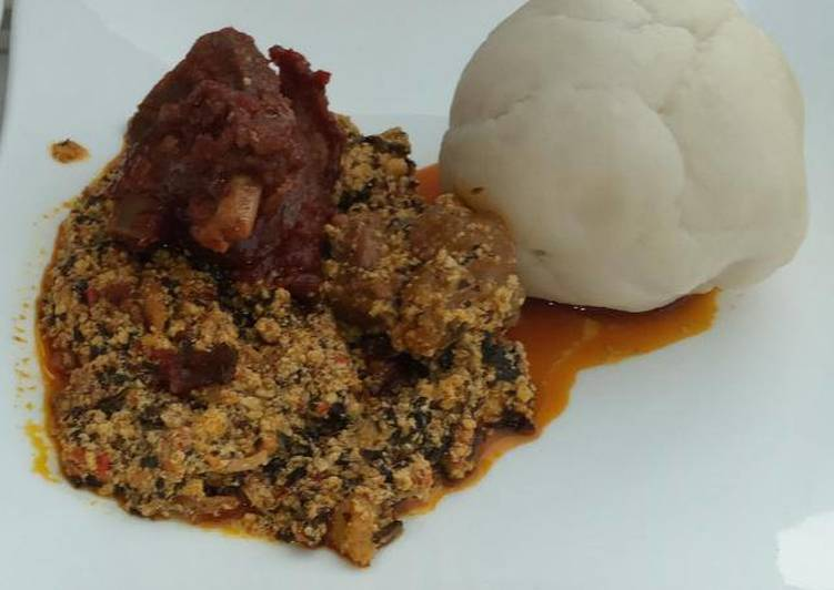 How To Improve  Egusi soup with pounded yam