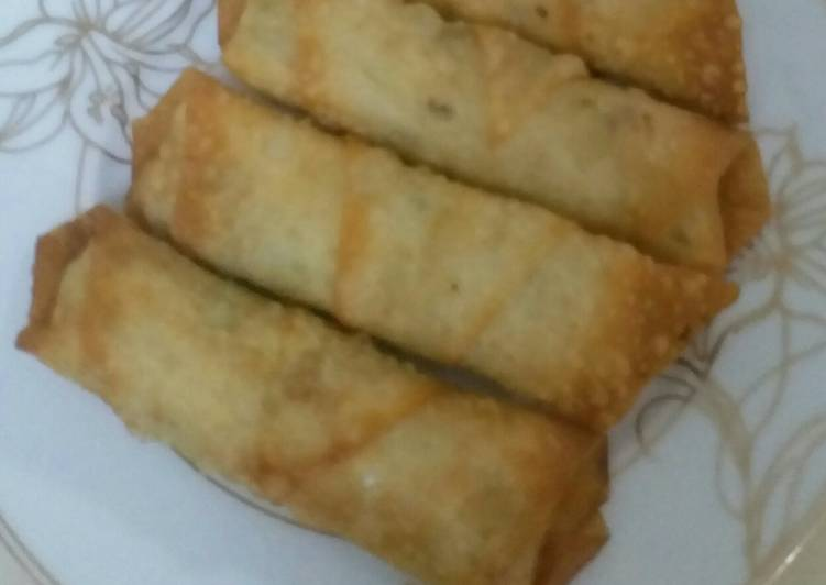 Minty chicken rolls