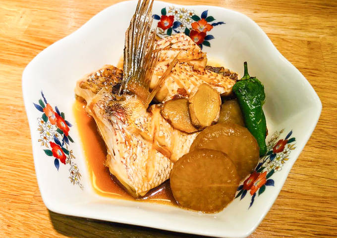 Japanese style Simmered Sea Bream