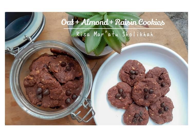 Oat + Almond + Raisin Cookies (Gluten Free) No Mixer